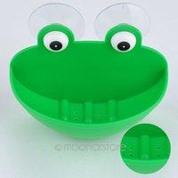 Cheap Bathroom set Green Frog Soap dish Wall mounted shelf Bath wall fixture Cup Soap Holder Novelty household items XJJ0138
