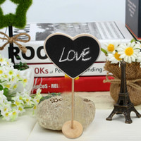 Wholesale Cute Mini Wooden Heart shape Blackboard Note Po Paper Clips Home Decor Brand New