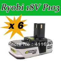 Wholesale 6 x Ryobi V Battery Compact Lithium Ion battery Ryobi P103 Free ship via ems order lt no track