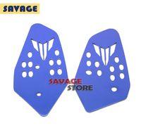 Wholesale For YAMAHA MT07 MT FZ Blue Motorcycle Accessories CNC Aluminum Foot Peg Heel Plates Guard Protector