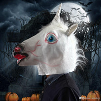 funny head - Halloween Costume Prop Funny Unicorn Head Mask Black White Red