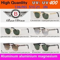 aluminium designer - aluminium magnesium metal sunglasses new arrival brand designer sunglasses for men whloesale