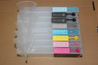 Wholesale Free shiping compatible Refillable cartridge for Epson wide format printer cartridge