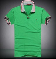 tommy shirt - Fashion Shirts Men s tommy polo shirt Tees Top Good quality Cotton Polo shirts Short sleeved polo shirt tmm2