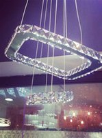 Wholesale Factory direct light LED crystal lamp crystal lamp ceiling lamp creative rectangle bar