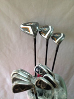 Wholesale 12PCS Complete Set Golf clubs X2 Hot Driver X2 hot Fairway woods X2 hot Golf Irons PAS Come headcover