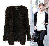 Wholesale Hot Sale Autumn Winter New arrival womens elegant long sleeve cardigan long fluffy sweater