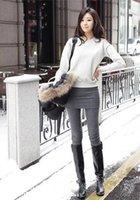 2014 Nueva Otoño-Invierno polainas de las mujeres delgados atractivos strench con la moda mini faldas, Color Negro Gris, envío libre (leggings01)