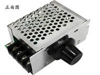 4000W de alta potencia tensión tiristor regulador de la luz y la caja del termostato regulable de velocidad con el caso