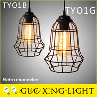 Wholesale 2016 new Chrome pendant light Cafe bar decoration do old restoring ancient ways fancy black chandelier vintage decor lamp without bulb