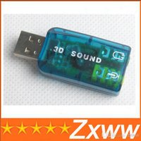 Wholesale good USB External Sound Card D Audio Adapter for Laptop PC New Accessories HZ