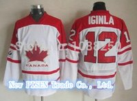 Cheap High Quality 12 Jarome Iginla Canada Jersey White Red Sidney Canada Jersey Jarome Iginla Jersey Olympic Free Shipping