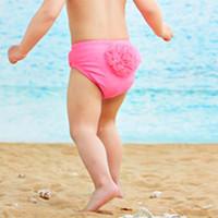 Wholesale Child Sets Beachwear Kids Swimwear Baby Swimsuits Kids Bathing Suits Lace Flower Swim Trunks Children Swimwear Kid Girls Swimsuit C9252
