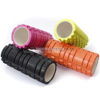 Wholesale 34x14cm EVA Yoga Pilates Fitness Exercise Foam Roller Massage PhysioT raining Injury Trigger Point small order no tracking