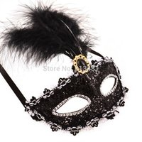 Wholesale Hot Selling Halloween Venetian Eye Mask Sexy Colors Feather Masquerade Masks Z13T4C