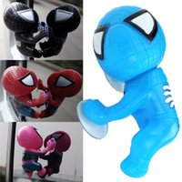 Wholesale Brand new CM Spider ManToy Climbing Spiderman Window Sucker Spider Man Doll Car Home Interior Decoration color for choose