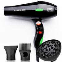 Wholesale 3000W Professional Hair Dryer Blower Nano Titanium Hairdryer Blow Dryer With Nozzle Diffuser Comb Secador De Pelo