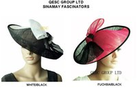 sinamay hat - BIG Sinamay Hat Fascinator saucer fascinator with one side up brim for church party diameter cm