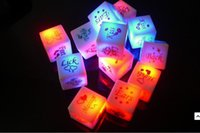 bachelor party games - 2x LED Flashing Glow Dices Game Toy Bachelor Sex Party Fun Adult Couple Gift Light Up Prom Bar Supplies Plastic Electronic Toys