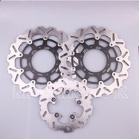 motorcycle rear disc brake - NEW motorcycle Black Front Rear Brake Discs Rotor For Suzuki GSXR600 GSX R1000