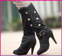 Wholesale 2015 vintage wedding boots new style high quality women s winter warm boots sexy wedding cowboy boots boots High heeled boots mjj276672