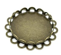 Wholesale 20PCs Bronze Tone Round Cabochon Frame Settings mm quot Fit mm