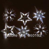 Precio de Gran luz de copo de nieve-Wholesale-2015 colgante nuevo de la luz LED de cadena 6M / 6pcs colgante grande de la estrella del copo de nieve de los chrismas de vacaciones luz 220V / 110V, libera la nave