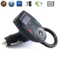 auto wireless connect - Bluetooth Wireless Handsfree Car Kits Auto Remote FM Modulator MP3 Player w USB Disk SD Card Slot Support Two Cell Phone Connect