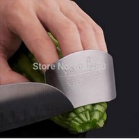 Wholesale 2015 New Stainless Steel Finger Hand Protector Guard Personalized Design Chop Safe Slice Knife Kitchen Cooking Tools order lt no tracking