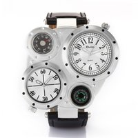 Wholesale Men Watch Personality Decoration Trends Fashion Wristwatches Compass Wrist watches GMT Two Time Zone Thermometer Watches