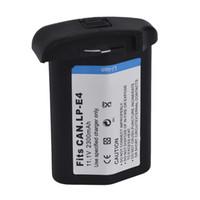 Wholesale 2300mah LP E4 Batteries PACK LP E4 LPE4 Camera Battery For Canon EOS D Ds Mark III IV DX Ds3 D3 D4