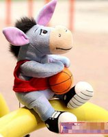 basketball games videos - Hundred Acre Wood Il donkey Eeyore the donkey basketball hold donkey plush doll doll ornaments Christmas gift