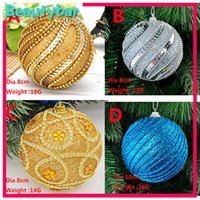 Wholesale Luxurious Nice cm Foam Christmas Tree Ball Christmas Tree Ornaments Christmas decoration Christmas Hanger Ball colors