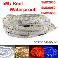 Wholesale Super Bright m SMD led m LED Strip Light Waterproof Flexiable LED Cool Pure Warm White Red Blue Green Lamp V