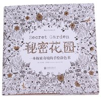Wholesale 20pages Secret Garden An Inky Treasure Hunt Coloring Book for Adult Kid Relieve Stress Kill Time Graffiti Drawing Book EJ874013