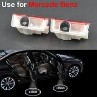 Wholesale GPS Car Styling LED Welcome Logo Door Shadow Light Lamp For Mercedes Benz A B C E M GLA GL Class W166 W212 W246 W176 W205 X164 GLA