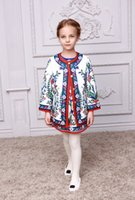 Wholesale 2015 High Fashion Wl Monsoon Girls Coat High Quality Floral Winter Coat Childrens O Neck Princess Jacket Kids Wear