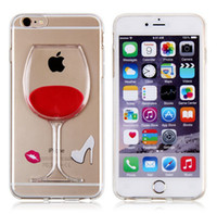 apple green heels - Hot Sale Liquid With Lips High Heel Red Wine Cup Transparent Case Cover For iPhone S Plus Phone Cases Fundas Coque