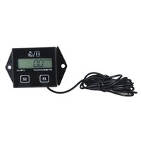 Wholesale Hot Sale Digital Engine Tach Tachometer Hour Meter Gauge Resettable Inductive for Racing Motorcycle Drop Shipping
