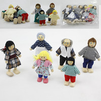 wooden doll - Doll Family of Caucasian Wooden Dolls SetBaby Kids Children Cloth wooden toys wood doll Pretend Play and Dress up