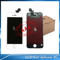 LCD Screen Panels lcd panel - DHL Glass Touch Display Screen iPhone G LCD Display Protector White and Black A