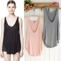 Wholesale Summer Womens Tank Top Camis V Neck Sleeveless Casual Loose Shirt Vest Summer Sexy Sleeveless Tees Colors CJE0702
