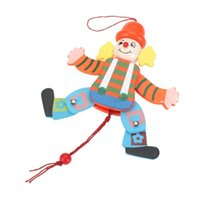 arm puppets - FS Hot Wooden Clown Pull String Toy Arms Legs Go Up and Down Kids Toy order lt no track