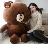 Wholesale Fancytrader Hot Item Line Office cm Giant Stuffed Soft Plush Huge Cute Brown Bear FT50778