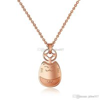 american transporter - High quality titanium steel rose gold transporter Chinchilla Statement Necklaces Pendant infinity fashion charms necklace