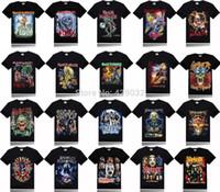 band slayer - Iron Maiden Avenged Sevenfold Megadeth slipknot kiss slayer band Rock D Printed Men s T Shirt Short Sleeve top black XXXL
