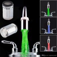 Wholesale LED Light Faucet Mixer Tap Kitchen Bathroom Automatic Colors Change Basin Faucets A3
