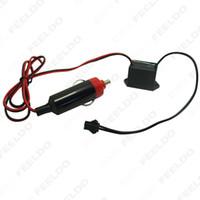Wholesale 30pcs Car Decoration EL Fibre Neon Glow Lighting Rope Strip Power Driver Inverter With Cigar Cigarette Lighter