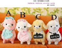 alpaca shop - New Fashion cm kinds Kawaii Japan Amuse Alpacasso Coffee Shop Waiter Alpaca Plush Horse Soft Toys for Children A2