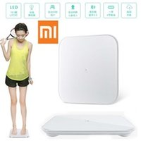 Wholesale Original xiaomi mi smart weighing scale xiaomi scale xiaomi weigh scale support Android iOS7 abovebluetooth4 white color